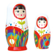 Russian nesting dolls Olga - White Wooden Matryoshkas Le Coin Des Enfants