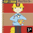 Cahier de coloriages Flip and draw Professions