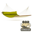 North American Style Alabama Double Kingsize Hammock with spreader avocado (green)