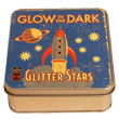 Glow in the dark Glitter Stars in a tin box