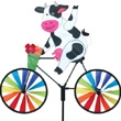 Cow Bicycle Spinner Garden Deco Premier Kites & Designs