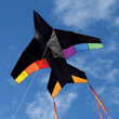 Rainbow Jet Plane Single-line Kite Into The Wind