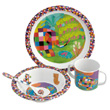Elmer Elephant Melamine Tableware for kids 4-piece Set