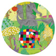 Elmer with berry Melamine Plate for kids Petit Jour