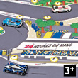 Le Mans Playmat + 1 launcher + 2 toy cars - Norev Racing Norev