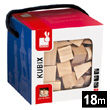 Kubix - 50 Natural Wood Blocks Janod