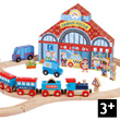 Story Express City Wooden Railway Set Janod