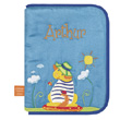 Health book cover with embroidered first name - Naughty Dog L'Oiseau Bateau