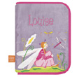 Health book cover with embroidered first name - Dragonfly in lo L'Oiseau Bateau