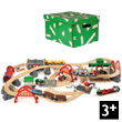 Deluxe Railway Set Rail & Road 87 pieces BRIO