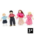 Dolly Family Four articulated wooden dolls for dollhouses