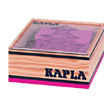 40 coloured Kapla blocks in a wooden cube pink