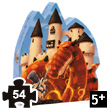 The Dragon's Castle Silhouette Puzzle (54 pièces) Djeco