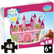 Repositionable Vertical Puzzle Castle - 48 pieces Aladine