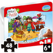 Repositionable Vertical Puzzle Pirates - 48 pieces Aladine