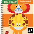Jungle Animals Flip and draw booklet Mudpuppy