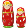 Russian nesting dolls Tatiana - Red Wooden Matryoshkas Le Coin Des Enfants
