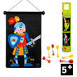 Magnetic Dartboard Knight/Dragon Scratch Europe