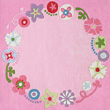 Floral Wreath Square Rug Haba