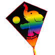 Eddy Rainbow Elephant - Single-line Kite for the children