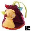 Mini reversible rattle toy Simon the Hedgehog Lilliputiens