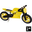 Superbike Yellow Wooden Balance Bike Kiddimoto