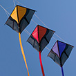 Stack of 3 Leon Stunt Kites Spiderkites