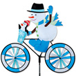 Cycling Snowman Garden Spinner Large Size 76 x 71 cm