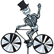 Cycling Skeleton Bicycle Spinner Premier Kites & Designs
