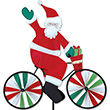 Santa Bicycle Garden Spinner Premier Kites & Designs