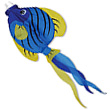 Deco Windsock Striped Angelfish 90 cm Premier Kites & Designs