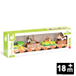 Story Farm Baby Train Wooden Toy Janod