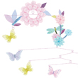 Butterfly Twirl Mobile for children's bedroom
