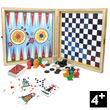 Wooden set of 4 games by Nathalie Lété Vilac
