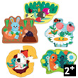 5 wooden puzzles - In the garden