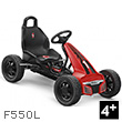 Black and red F550L Go-Cart for kids