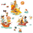 Treasure island repositionable stickers