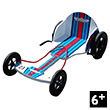 BoxKart Wooden Soap Box Racer - Racer Red/White/Blue
