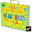 Numbers and Alphabet Wooden stencils in suitcase Vilac