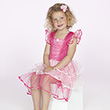 Pink-fuchsia Dress Aisha - Costume for kids age 3-4