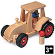 Modern Tractor Wooden Toy Vehicle Fagus Wooden Toys