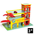 Dino's Red Garage - Wooden Toy Le Toy Van