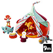 The circus tent and its acrobats - Soft Toys Lilliputiens