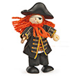 Pirate Barbarossa - Budkins Wooden Characters Le Toy Van