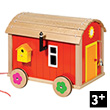 Doll's Gypsy Caravan with furniture - Wooden Toy Goki