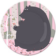 Small Plate Bear - Forest Petit Jour