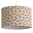 Cotton fabric pendant light-shade Leaves Little Big Room by Djeco