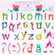 120 removable wall stickers Girls alphabet Little Big Room by Djeco