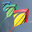 Stack of 3 Leon II Diamond Stunt Kites Spiderkites