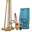 Croquet game, 4 players, blue bag